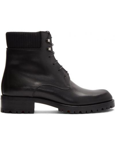 Buty na wysokości skórzane kołatka Christian Louboutin