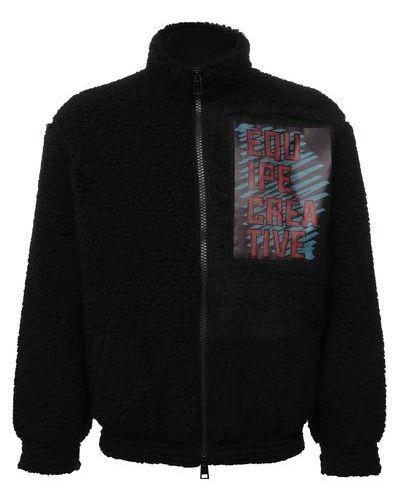 Черная куртка из полиэстера Diego Venturino