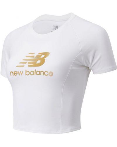 Белая футболка эластичная New Balance