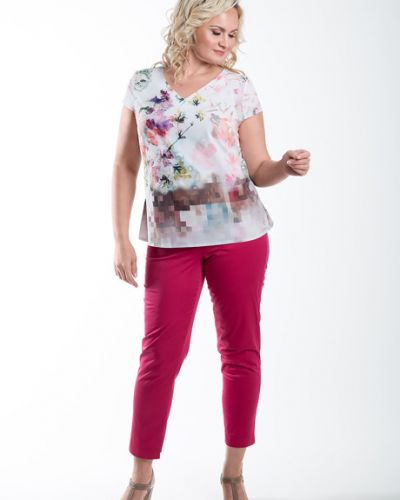 Блузка с цветочным принтом шелковая Virgi Style