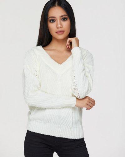 Пуловер итальянский белый Brunello De Neri