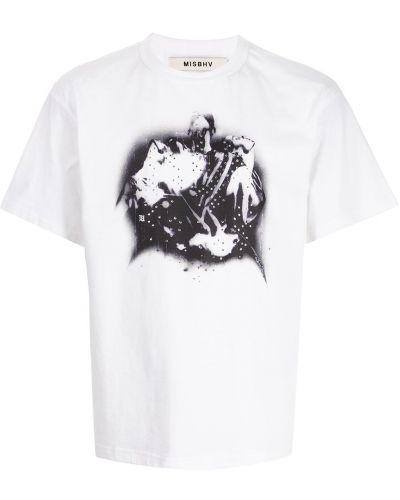 Белая прямая футболка Misbhv