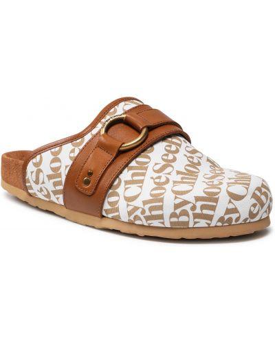 Białe sandały casual See By Chloe