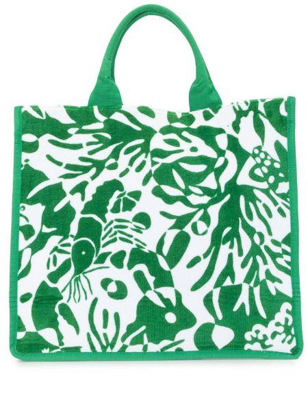 Пляжная хлопковая зеленая пляжная сумка Eres