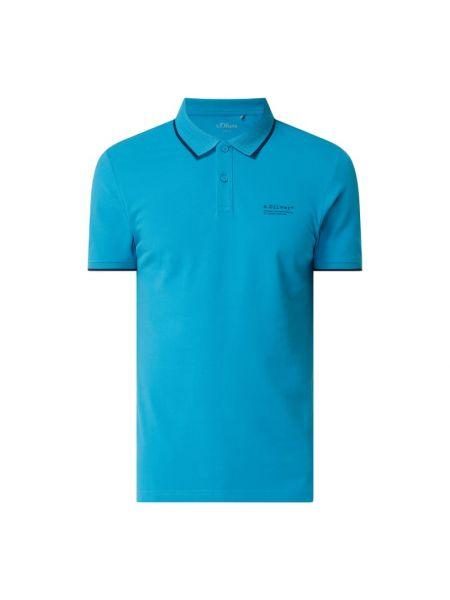 T-shirt z printem - turkusowa S.oliver Red Label