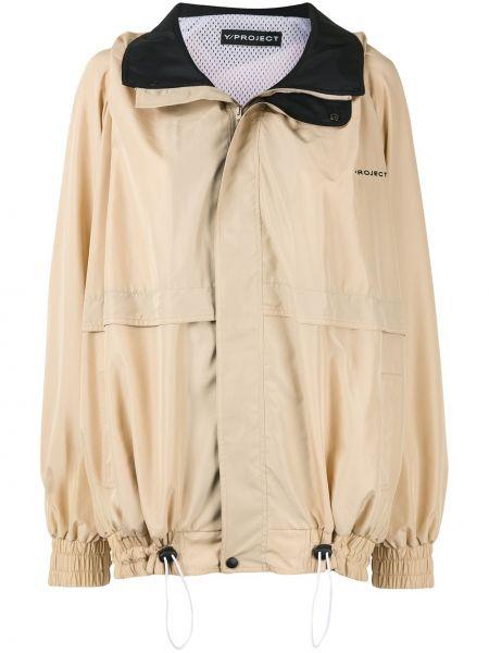 Длинное пальто на молнии с вышивкой эластичный Y/project