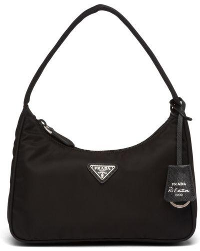 Черная сумка на плечо Prada