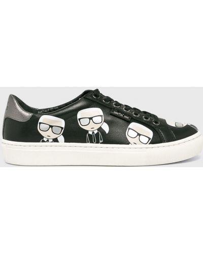 Кроссовки на шнуровке черный Karl Lagerfeld