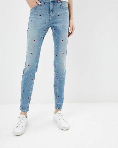 Голубые джинсы-скинни Zoe Karssen