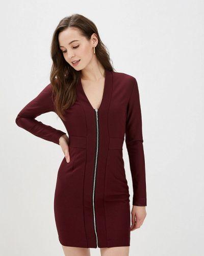 Платье футляр бордовый Gepur