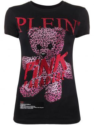 Koszula z krótkim rękawem z nadrukiem czarny Philipp Plein
