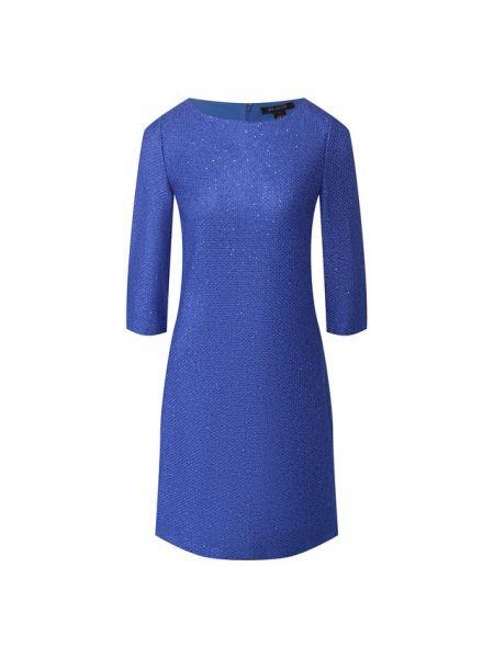 Платье из вискозы - синее St. John
