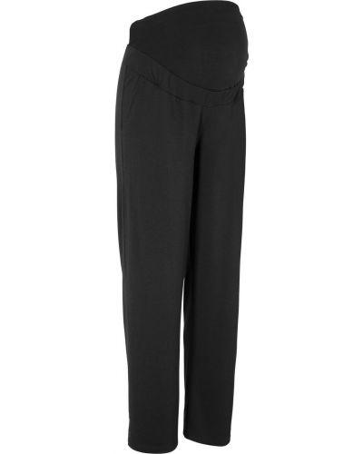 Свободные брюки для беременных черные Bonprix