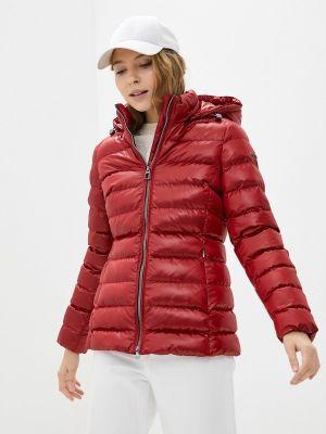 Красная утепленная куртка Geox