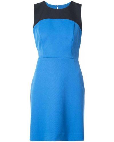 Синее платье футляр Milly