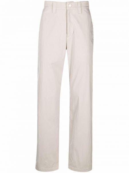 Białe spodnie z paskiem z nylonu Affix