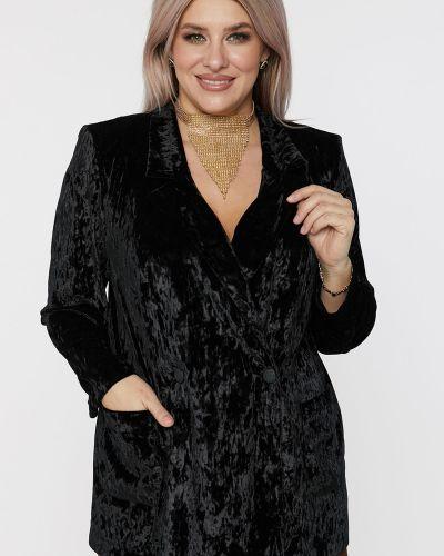 Бархатный удлиненный пиджак с подкладкой с воротником Luxury