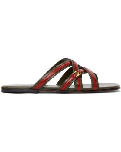 С ремешком открытые кожаные сандалии Gucci