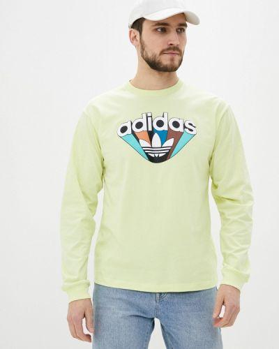 Желтый лонгслив Adidas Originals