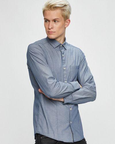 Рубашка с длинным рукавом однотонная хлопковая S.oliver