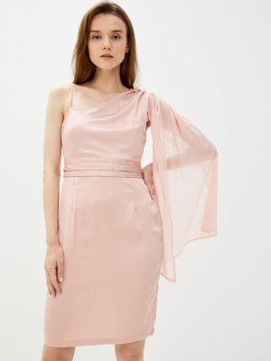Розовое вечернее платье осеннее Zibi London