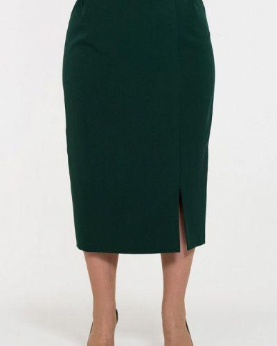 Зеленая юбка осенняя Intikoma