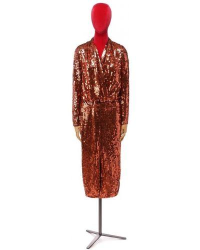 Платье с пайетками из вискозы Tom Ford