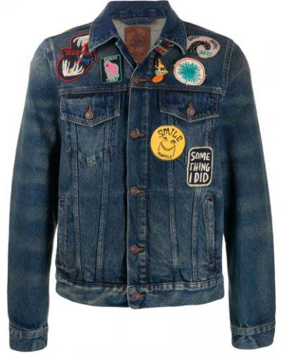 Классическая синяя джинсовая куртка с манжетами прозрачная Deus Ex Machina