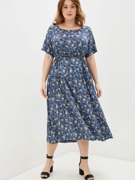 Повседневное платье синее весеннее Intikoma