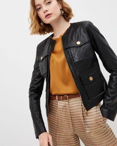 Черная кожаная куртка Pinko