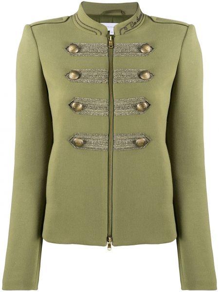 Пиджак милитари - зеленый Patrizia Pepe