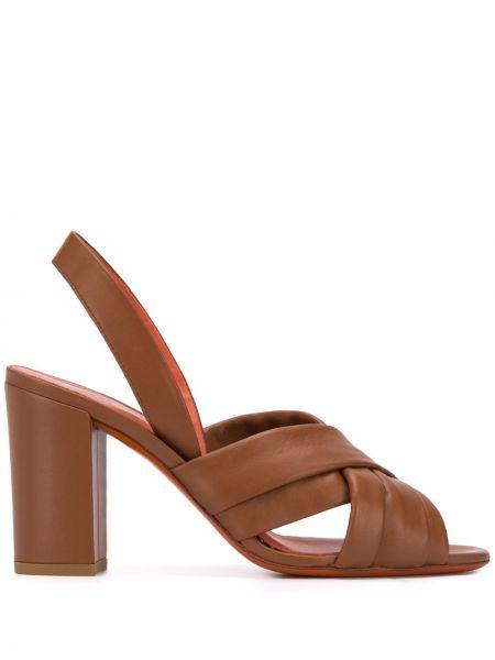 Sandały skórzany piasek Santoni