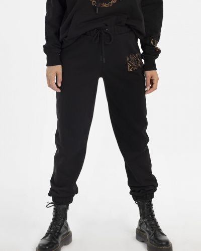 Укороченные спортивные брюки - черные Unq