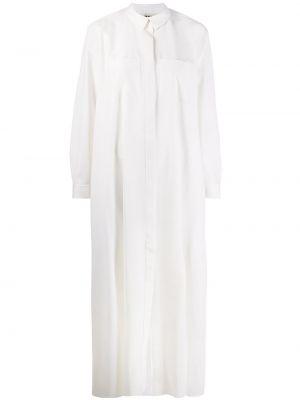 Платье на пуговицах с воротником с карманами свободного кроя Maison Rabih Kayrouz