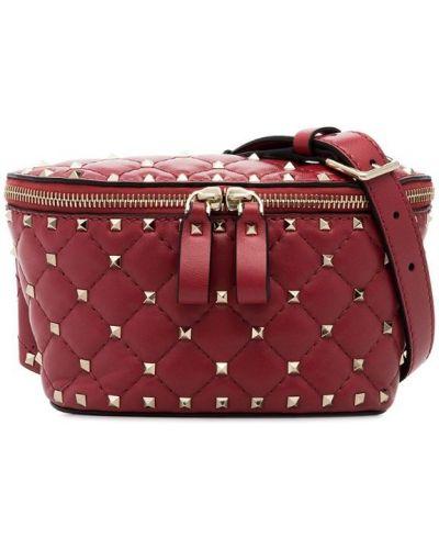 Кожаная сумка поясная маленькая Valentino