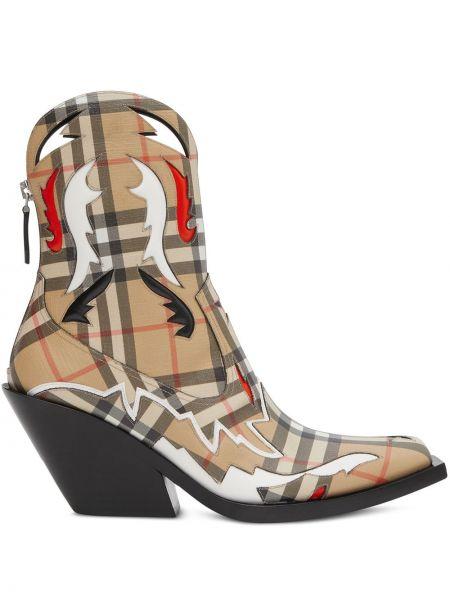 Kowboj buty zabytkowe kwadratowy Burberry