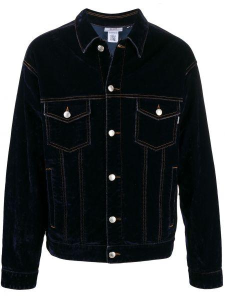 Klasyczne niebieskie jeansy z haftem Gcds