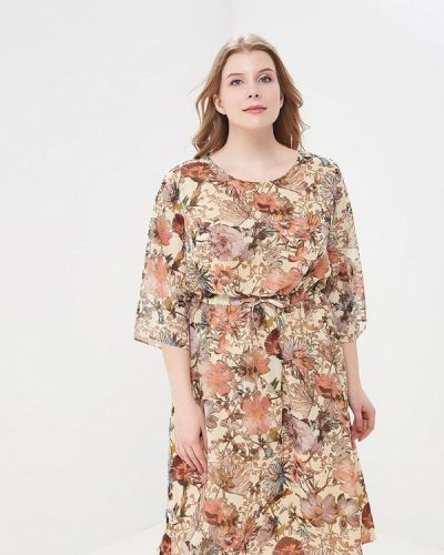 Бежевое платье весеннее Intikoma