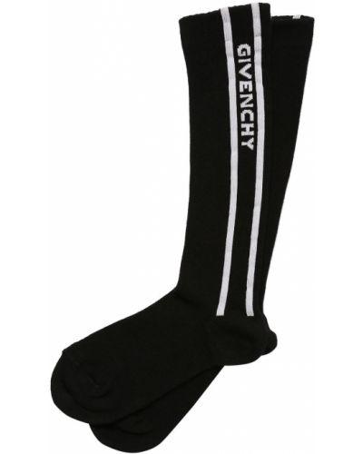 Czarne wysoki skarpety bawełniane Givenchy