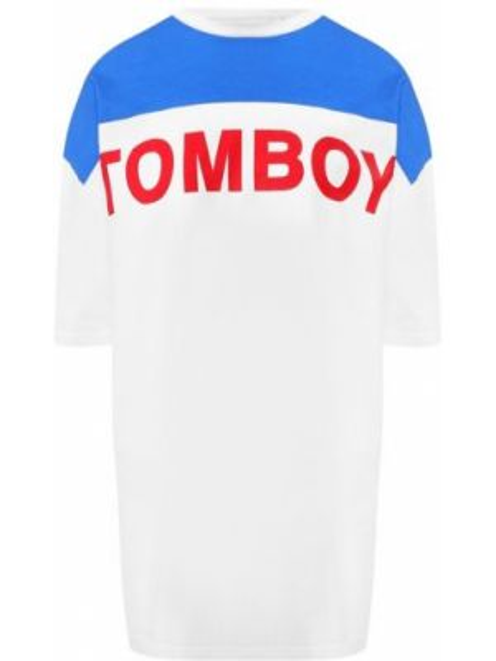 Хлопковая футбольная синяя футболка винтажная Filles A Papa
