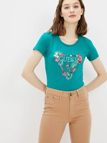 Поло зеленый джинсовый Guess Jeans