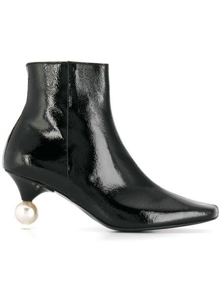 Черные сапоги с квадратным носком Yuul Yie