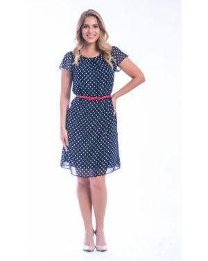 Летнее платье в горошек с поясом Modellos