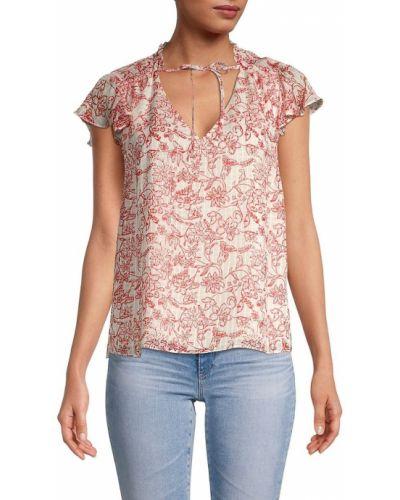 Шелковая блузка с V-образным вырезом Parker