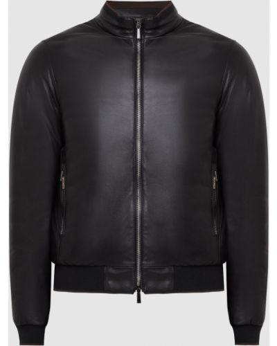 Кожаная куртка - черная Moorer