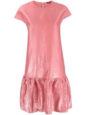 Шелковое платье миди - розовое Aspesi