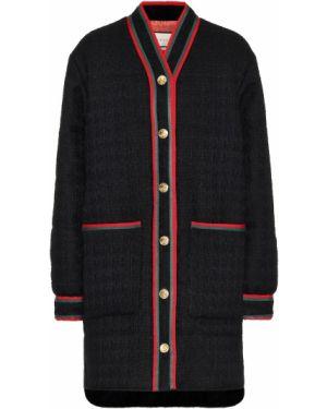 Пальто шерстяное черное Gucci
