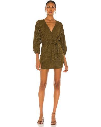 Восточное зеленое платье с манжетами Saylor