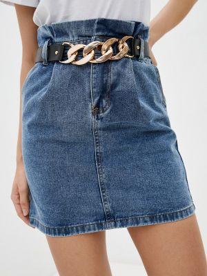 Джинсовая юбка - синяя Allegri