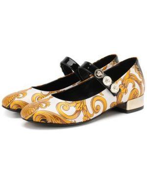 Туфли на каблуке лаковые Versace
